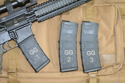 3 Mag Multi-Pack Laser Marked MagPul PMAG 30 AR/M4 5.56 Magazines