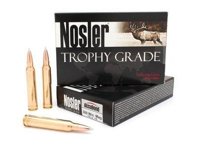 Nosler Trophy Grade Ammunition 300 Winchester Magnum 180 Grain AccuBond
