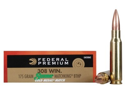 Federal Gold Medal 308 Winchester 175 Grain SMK