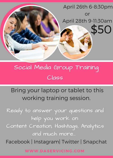 Group Social Media Training