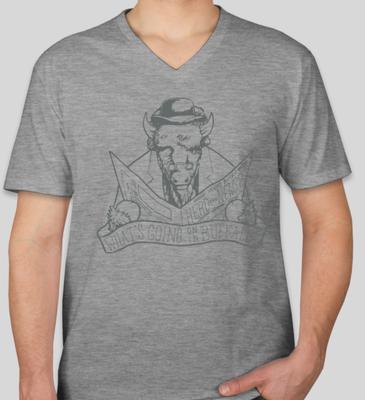 Men's V-Neck T-shirt - Grey