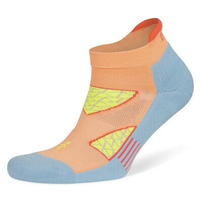 Women's No Show Enduro Peach/Pale Blue