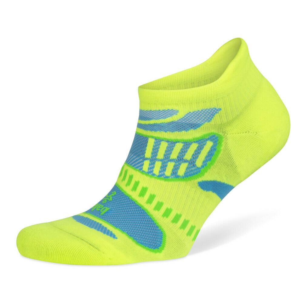 Ultra Light No Show Technical Running Sock - Neon Lime
