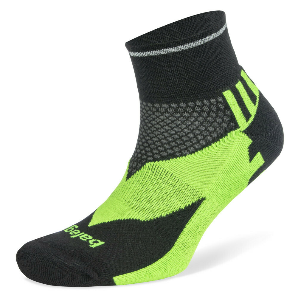 Enduro Reflective Quarter: Black Neon Green