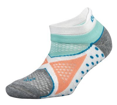 Womens Enduro NoShow Socks Aqua/White