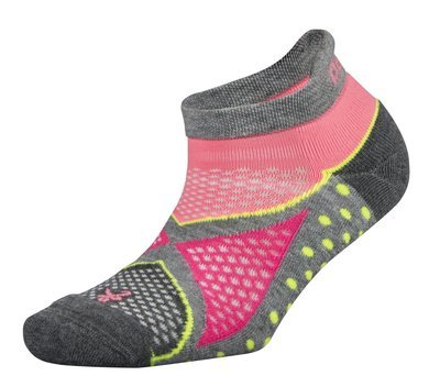 Womens Enduro NoShow Socks Pink/Grey