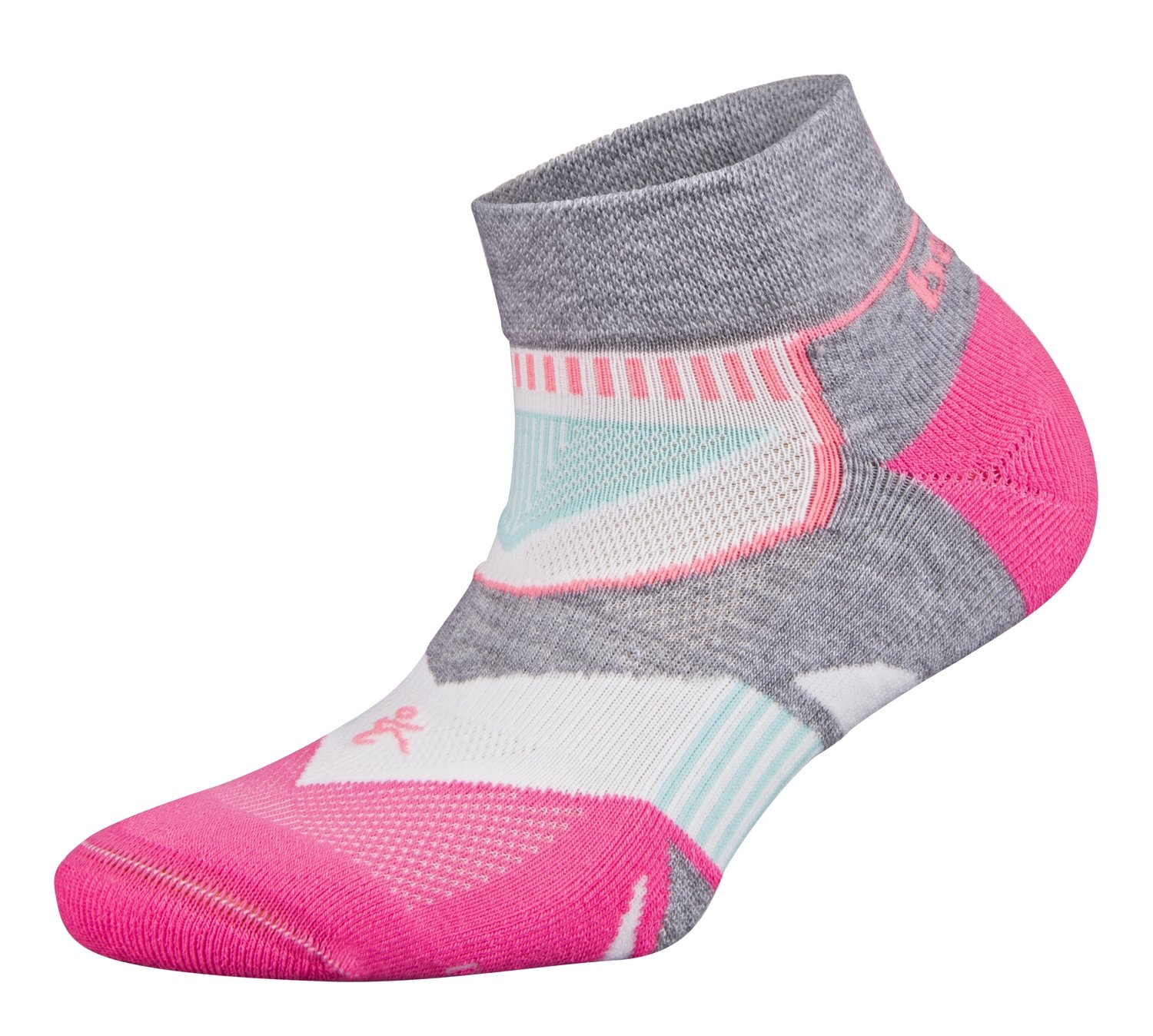 Enduro Low Cut Womens Socks Pink/Grey