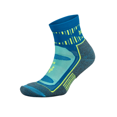 Blister Resist Quarter Running Sock: Ethereal Blue