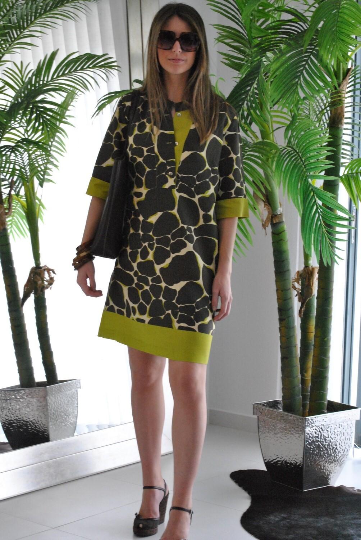 vestido curto estampado preço inicial 106€