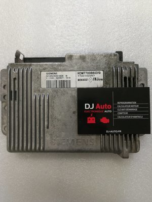 Renault Calculateur moteur Megane 1.6 Siemens Fenix 5 S105300103B HOM7700860319 7700102267