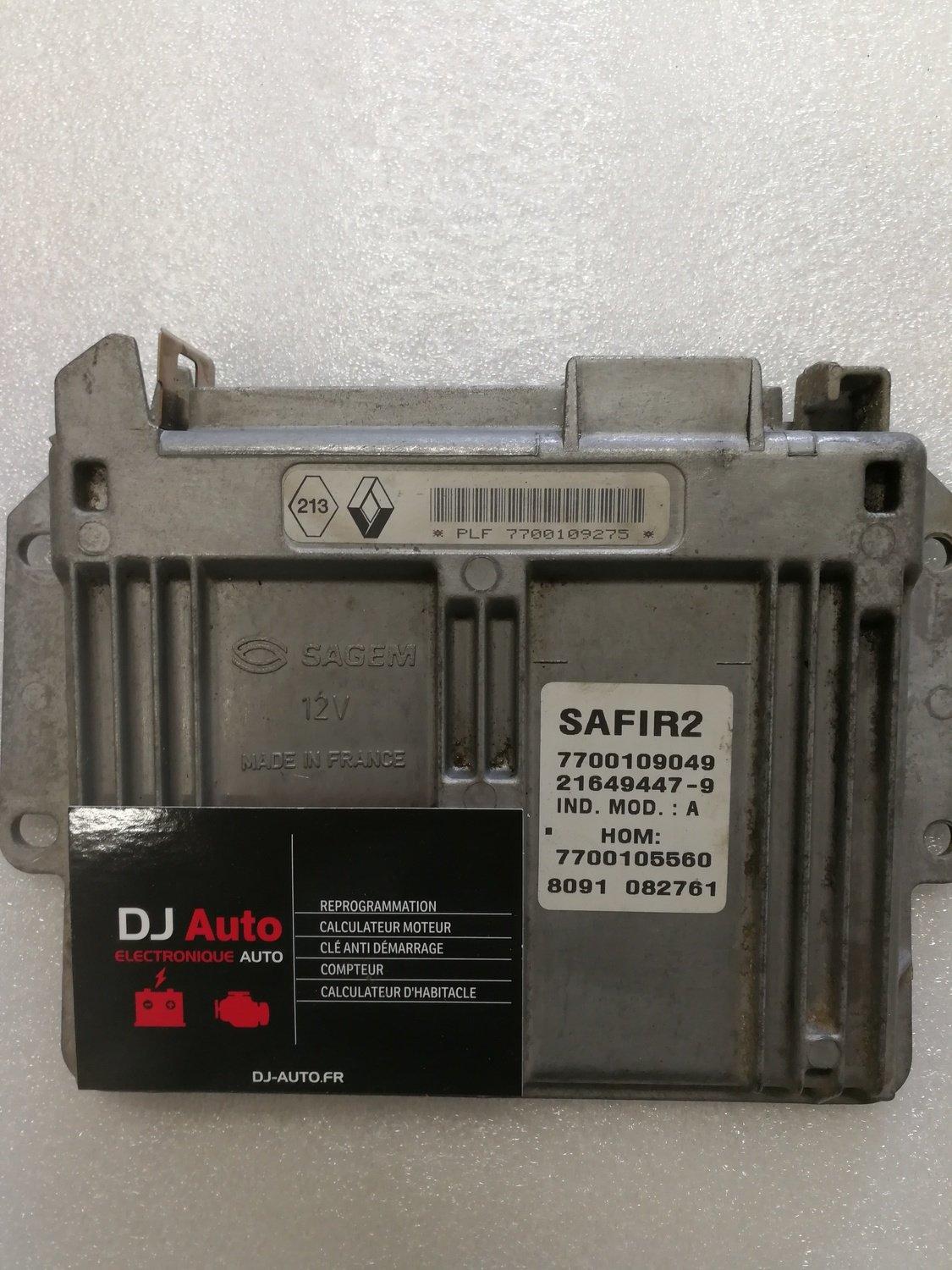 Renault Calculateur moteur SAGEM SAFIR 2 7700109049 - HOM 7700105560