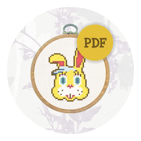 Downloadable cross stitch pattern - Zipper T Bunny