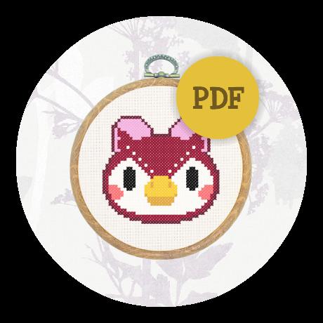 Downloadable cross stitch pattern - Celeste