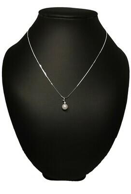 Rome - fehérarany gyémánt-gyöngy medál