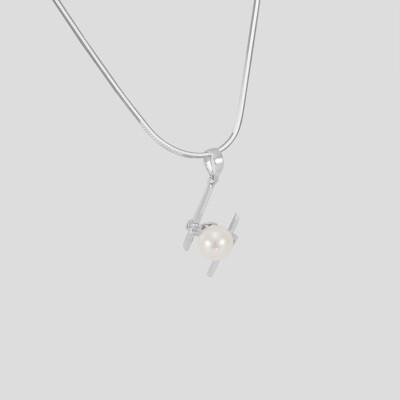 Modern gyémánt - akoya gyöngy medál