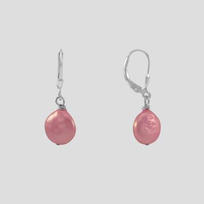 Pinky ezüst fülbevaló - édesvízi igazgyöngy