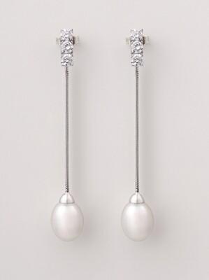 Emma fülbevaló - édesvízi tenyésztett gyöngy