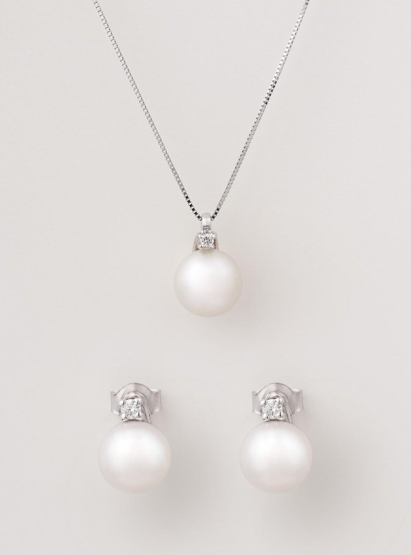 Marilyn gyémánt - gyöngy ékszer szett