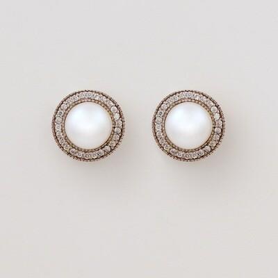 Lucy ezüst fülbevaló - tenyésztett gyöngy