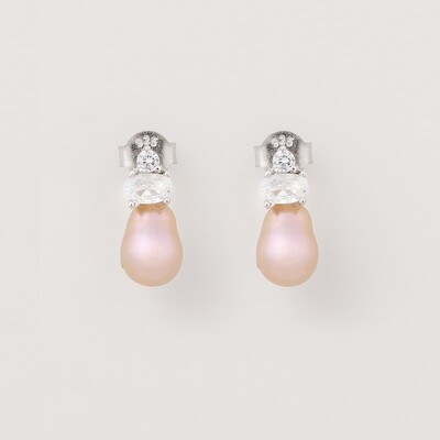 Bettina ezüst fülbevaló - valódi gyöngy
