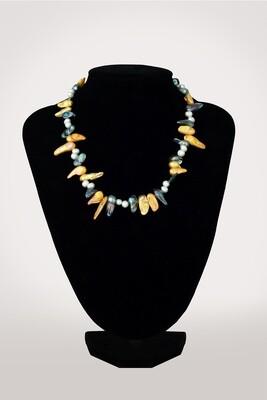 Keshi színes - tenyésztett gyöngy nyaklánc