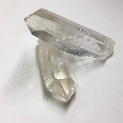 Paire de Pointes de Crystal de Roche