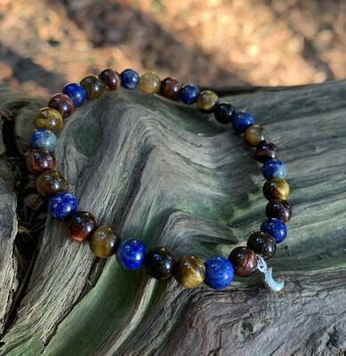 Bracelet lapis lazuli, Oeil de tigre, Oeil de taureau