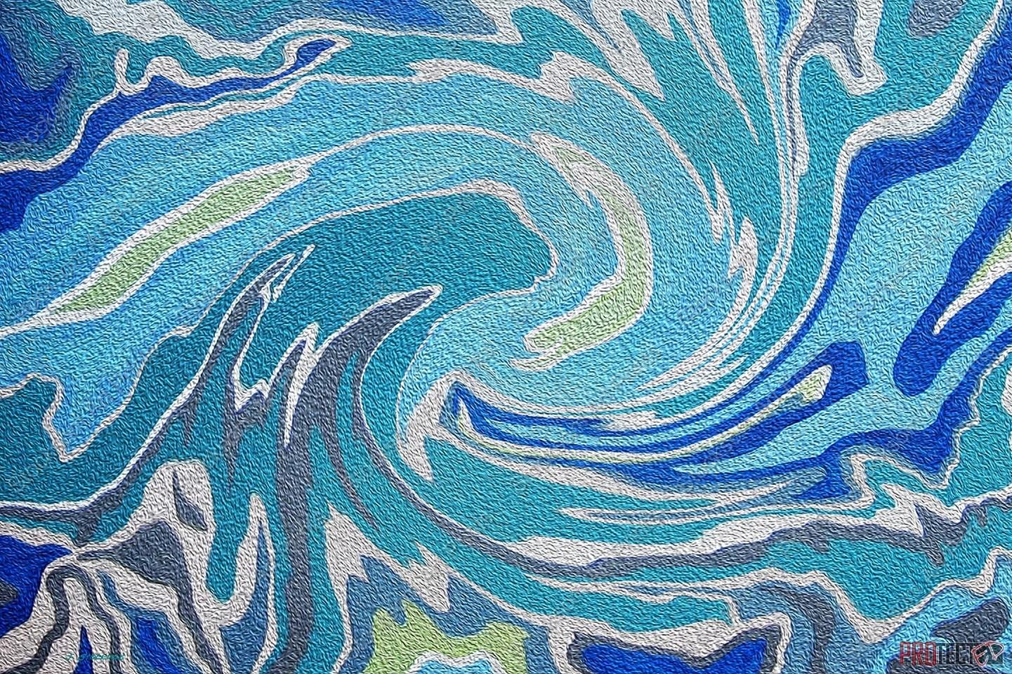 Blue Agate Swirl