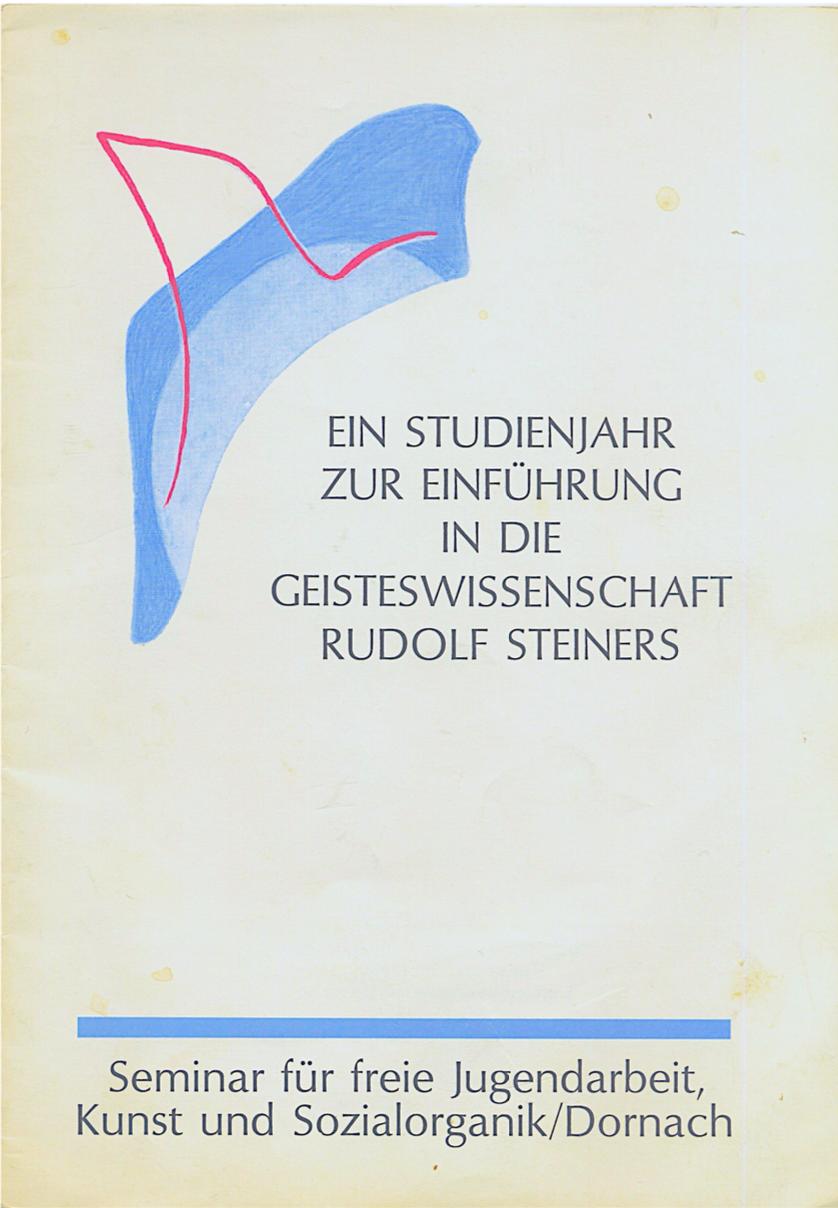 H.Witzenmann: Ein neuer Zugang zur Geisteswissenschaft Rudolf Steiners (1985)