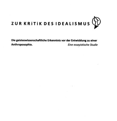 P.Witt: Kritik des Idealismus