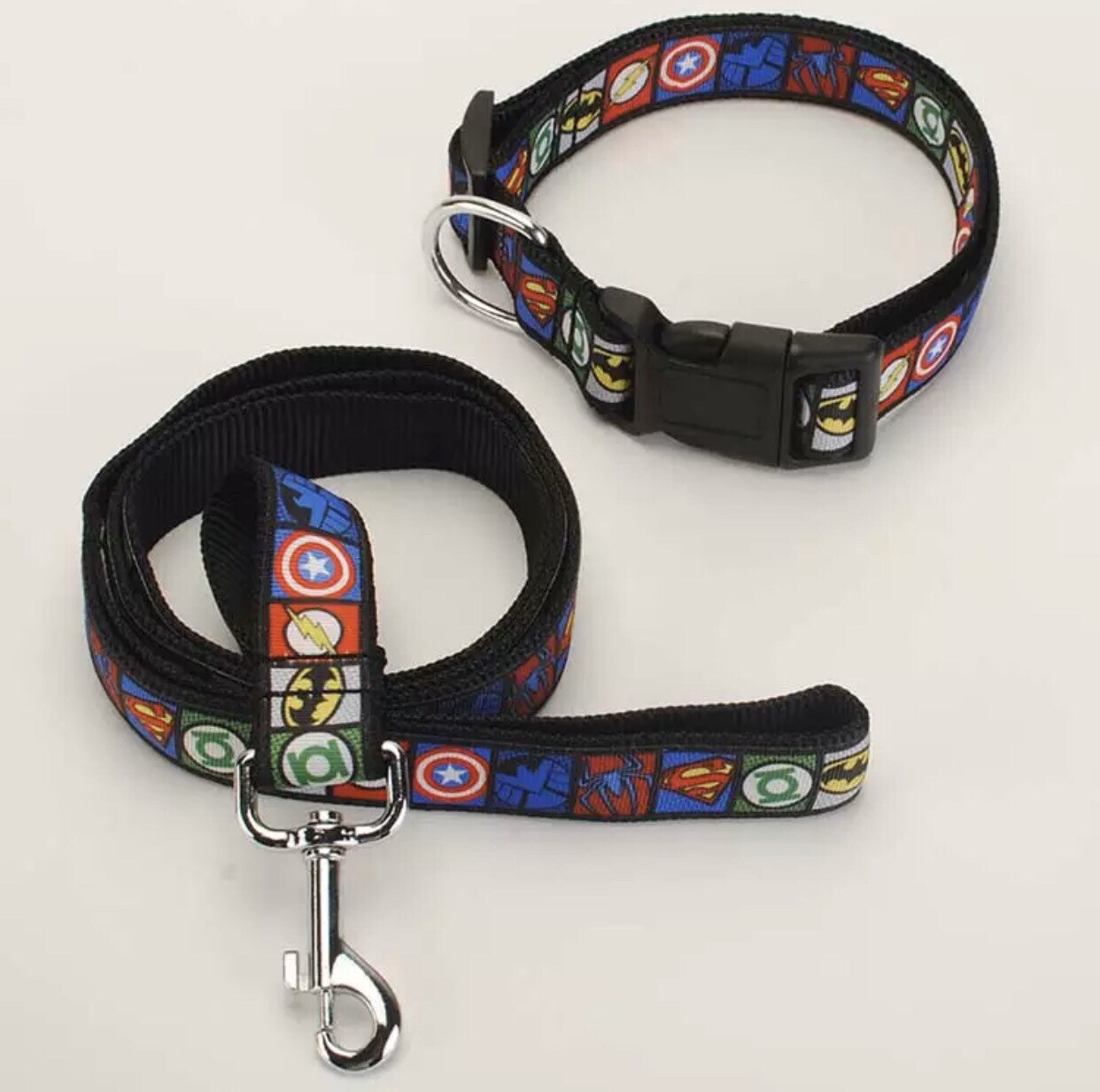 Super Hero Leash And Collar Set