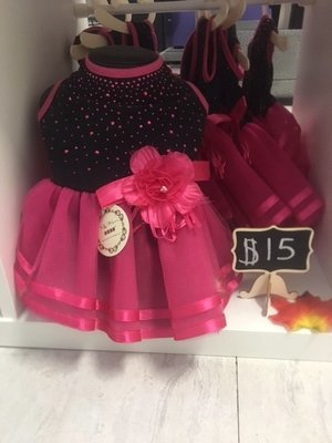 Black and Pink Flower Dress