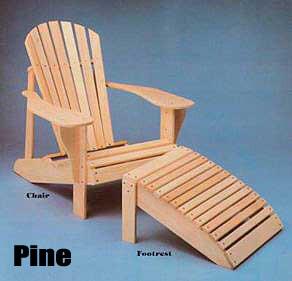 Super Size Pine Adirondack