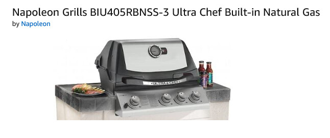 Napoleon Ultra Chef Built In BBQ