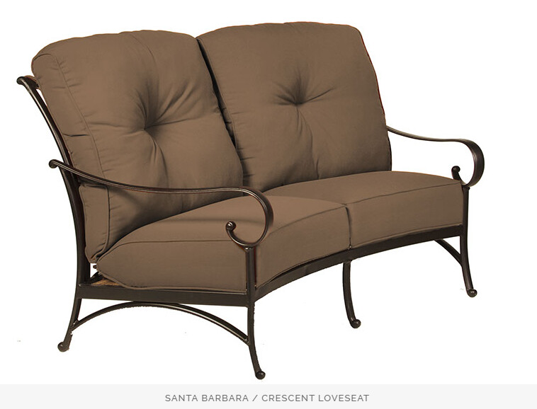 Santa Barbara Crescent Love Seat and Double Ottoman / Bench by Hanamint