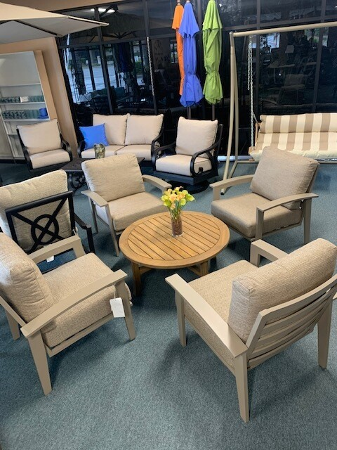 Manhattan 5 Piece Lounge with Teak Coffee Table