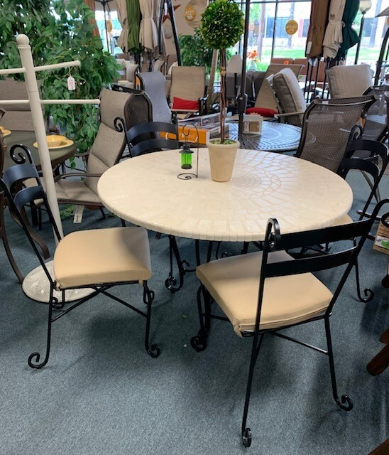 Mission Dining Set w/ Table Top by OW Lee
