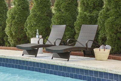 Elegant Outdoor Resin Wicker Chaise Lounge
