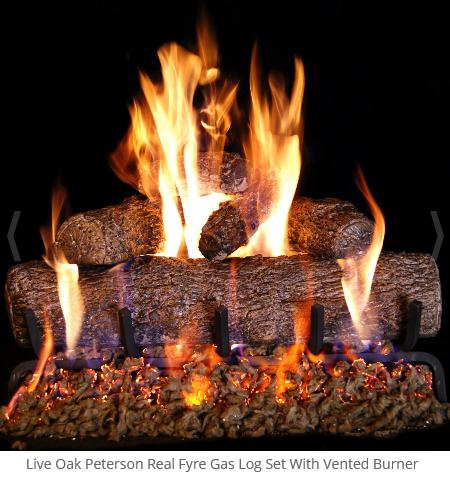 Real Fyre Live Oak Vented Gas Log Set