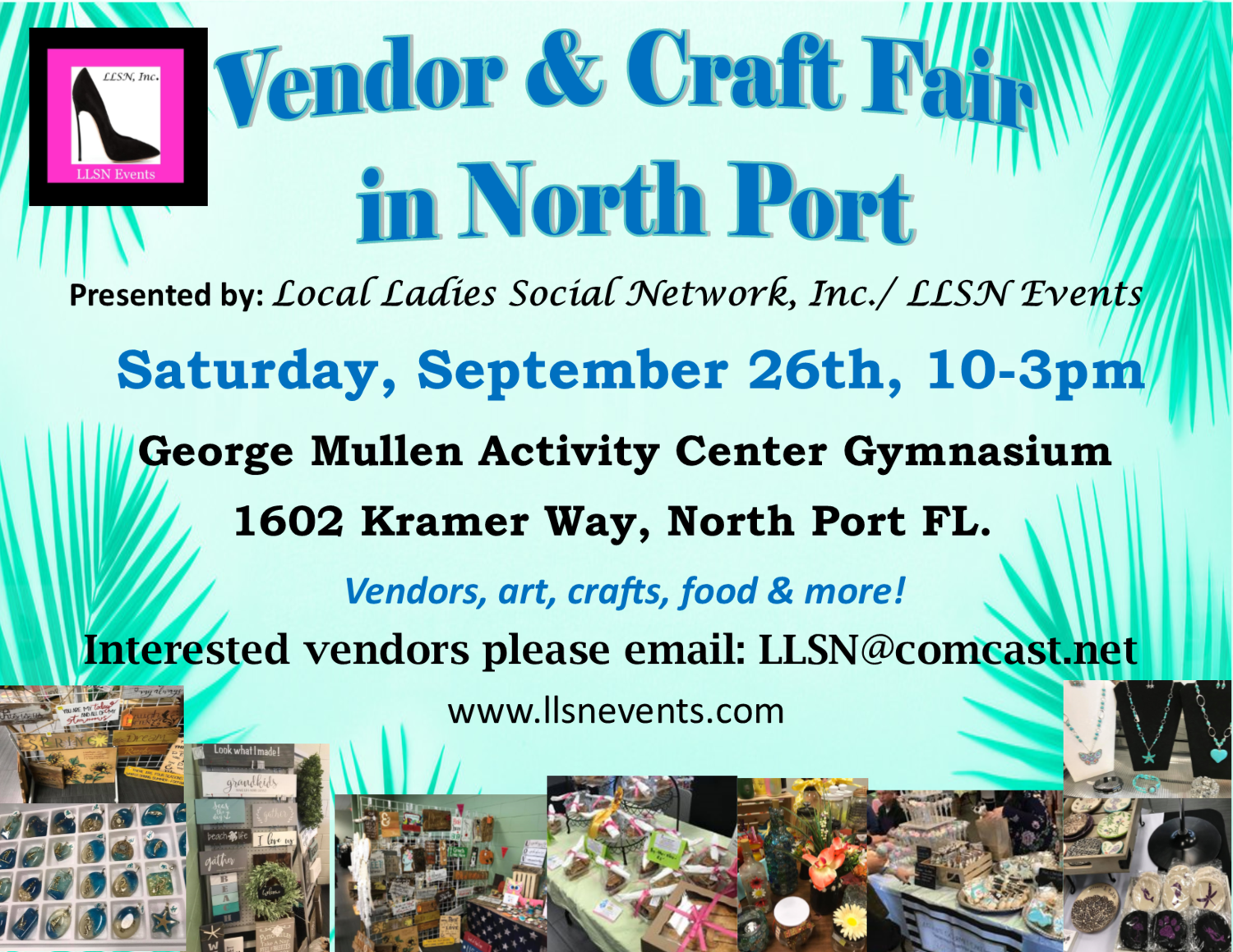 Vendor & Craft Fair - North Port- September 26th 2020 (INSIDE)