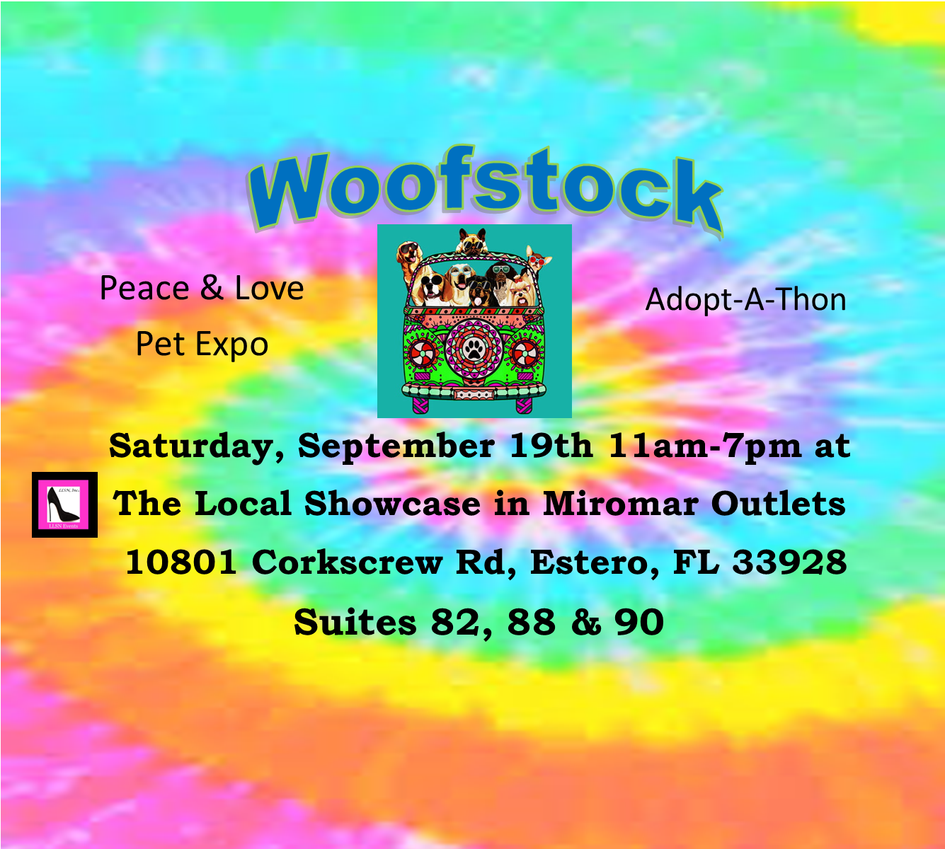 Woofstock- A Peace & Love Pet Expo & Adopt-a-Thon, Sept 19th.
