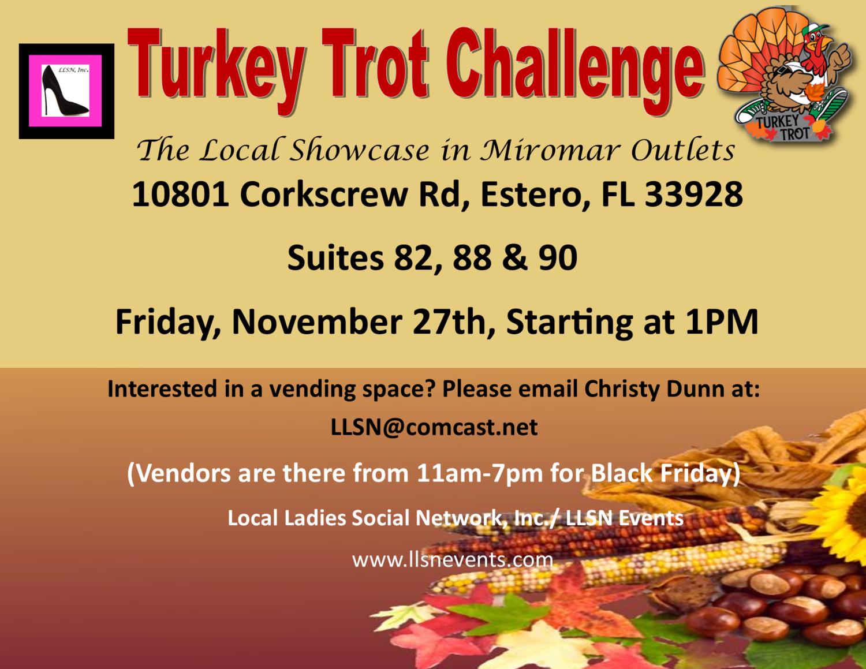 Black Friday- Turkey Trot Challenge- Friday, November 27th.