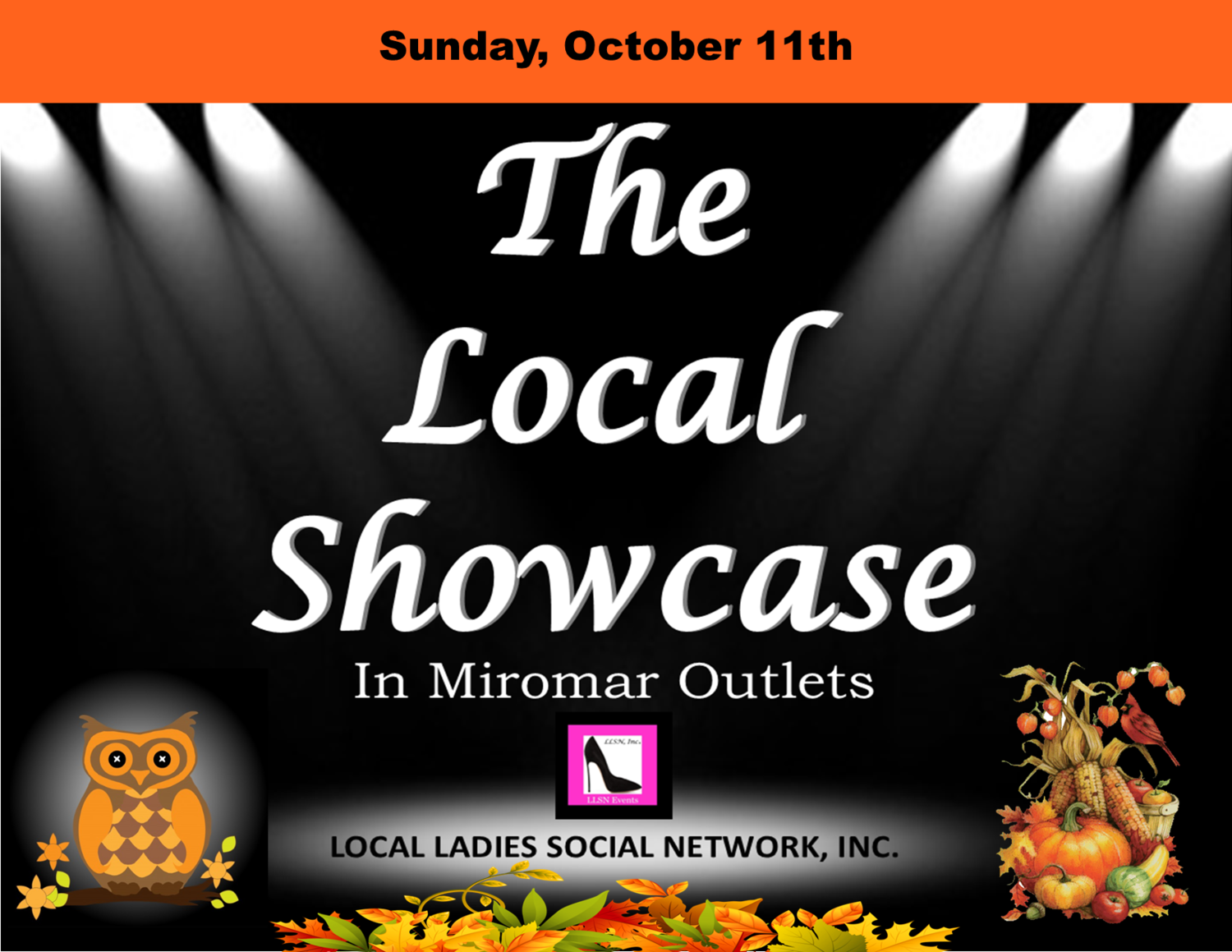 Sunday, October 11th, 12pm-6pm.