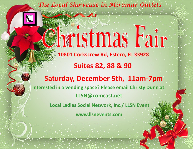 Christmas Fair, Saturday, Dec. 5th, 11am-7pm