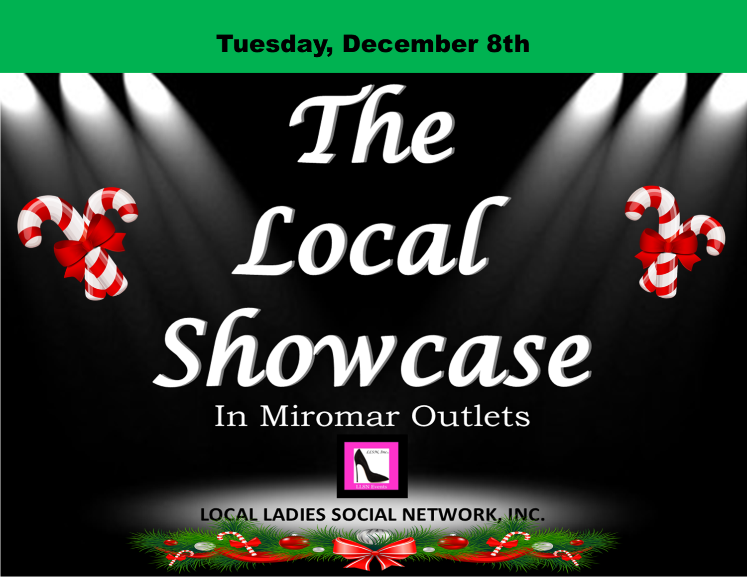 Tuesday, December 8th 11am-7pm.