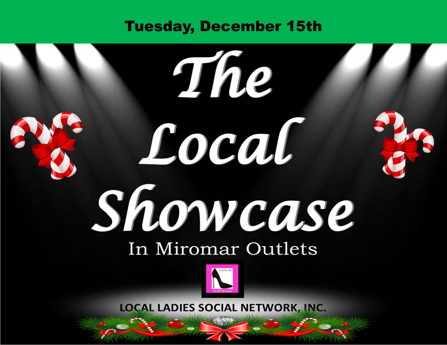 Tuesday, December 15th 11am-7pm.