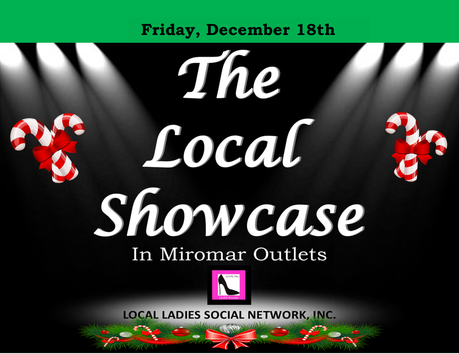 Friday, December 18th 11am-7pm