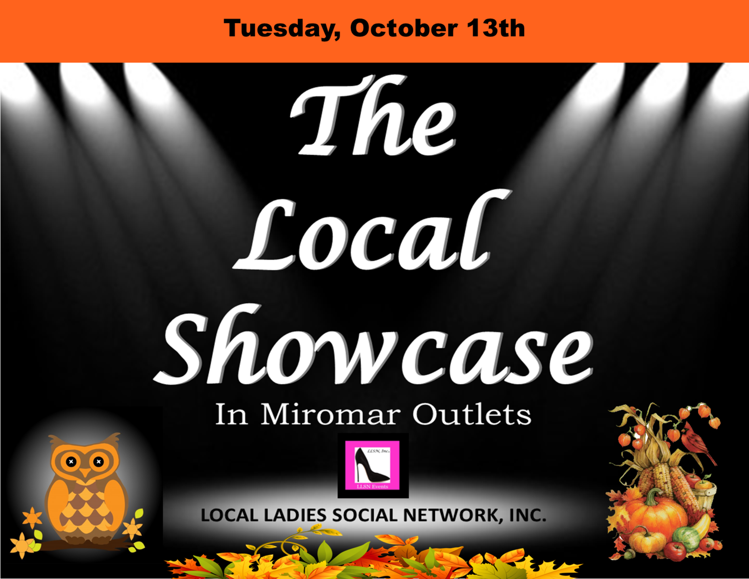Tuesday, October 13th, 11am-7pm.