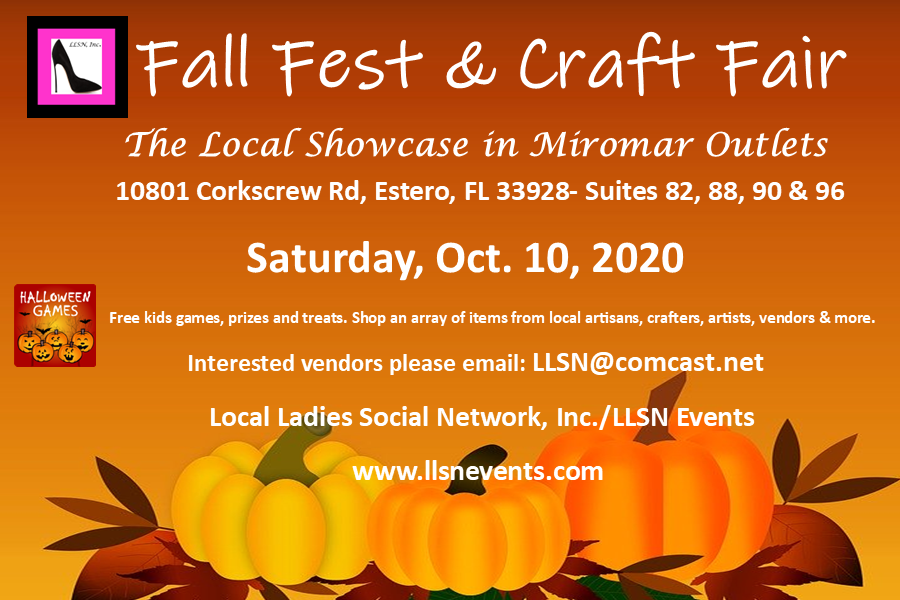 Fall Fest & Craft Fair-Saturday, October 10th, 11am-7pm.