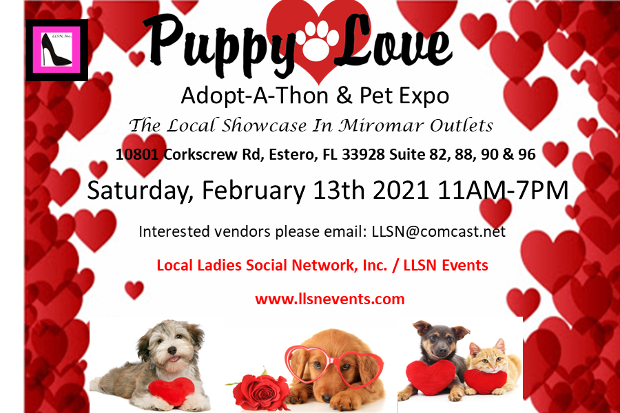 Puppy Love- Adopt-A-Thon & Pet Expo- Feb. 13, 2021